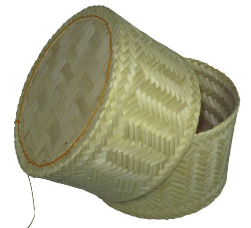 Thai Handmade Sticky Rice Serving Basket Large Size 10x4.5x6.5'' by Thai