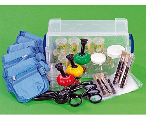 Betzold Lupen - Set, 23 Lupen zum Forschen, Biologie, Natur erforschen, Dosen, Schalen, Botanisierbesteck uvm., in transparenter Aufbewahrungsbox