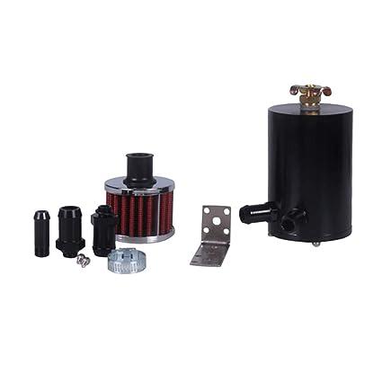 D DOLITY Filtro de Tanque de Captura de Aceite para Coche Veh/ículo Oil Separator Catch Can Filter