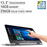 """HP Envy x360 13.3"""" QHD+ WLED-backlit Touchscreen Convertible Laptop, Intel Core i7-7500U up to 3.5GHz, 16GB DDR3, 256GB SSD, Backlit Keyboard, Webcam, 802.11ac, Win 10 (Certified Refurbished)"""