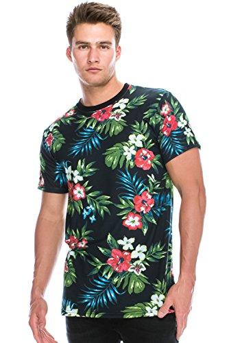 hipster-hip-hop-crewneck-graphic-floral-sublimation-prints-black-t-shirts-large