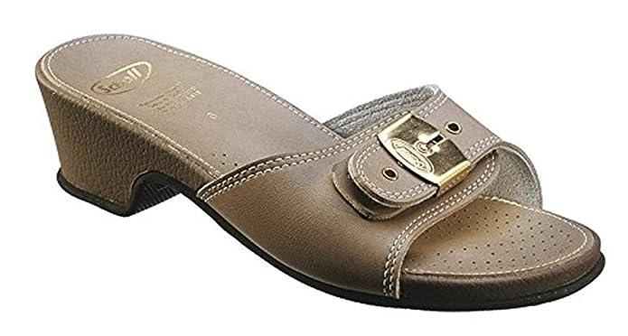 1817e41918f567 Scholl Allure Cuir Sandales Haut - Pierre: Amazon.fr: Chaussures et Sacs