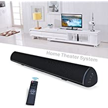 80Watt 34Inch SoundBar, BYL Sound bar with Built in Subwoofer Wired and Wireless Bluetooth Home Audio Theater Speakers with IR Learning Function for TV (Worry-Free 90-Day Trial, 2018 Upgraded)