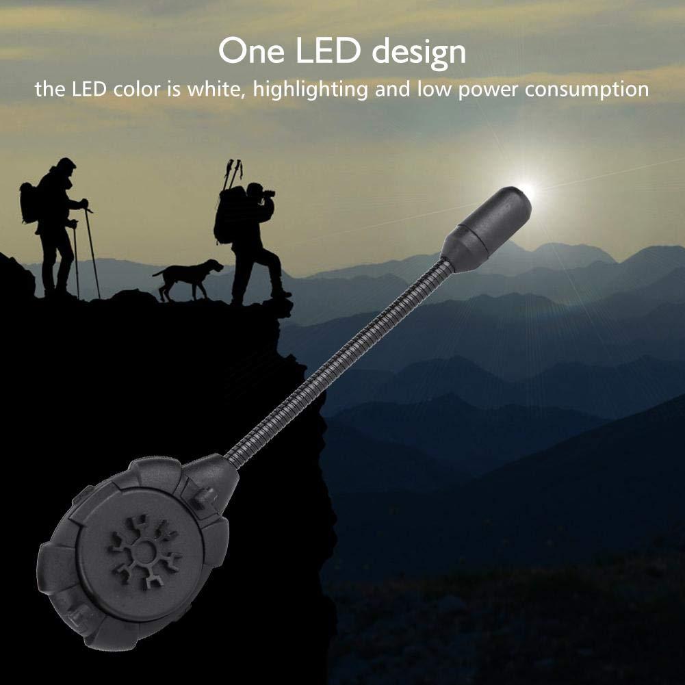 Tbest T/áctico Militar Casco Luz LED,Linterna de L/ámpara de Montaje de Casco Tec Mpls 1 LED Herramienta de Iluminaci/ón de Luz de Casco L/ámpara de Se/ñal de Supervivencia para Caza al Aire Libre Negro