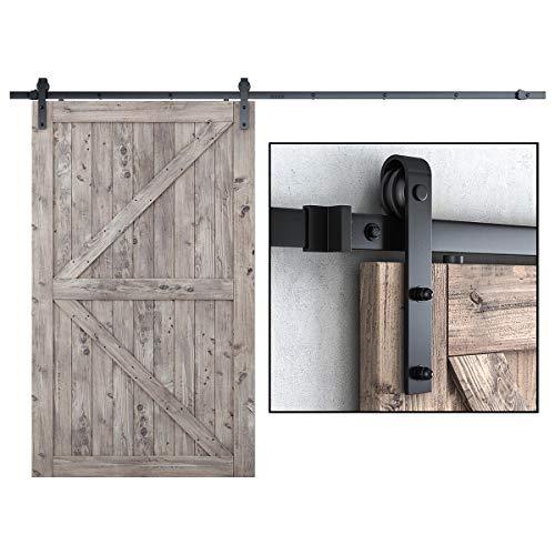 SMARTSTANDARD 10FT Heavy Duty Sturdy Sliding Barn Door Hardware Kit, 10