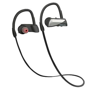 Auriculares Bluetooth, Meerveil Estéreo Auriculares Deporte Headphones Deportivo Cancelación de ruido con Micrófono Resistente al
