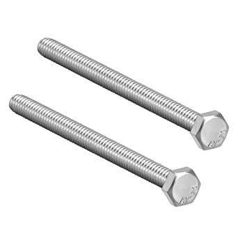 uxcell M6 Thread 150mm 304 Stainless Steel Hex Head Screws Bolts Fastener 4pcs