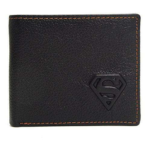 [Change] Western Superman Men Genuine Leather Wallets Cowskin - Superman Wallet For Men