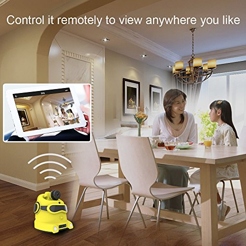 Wireless Security Camera,YZ MeE Smart Home Security System(Auto-Charge) ,Surveillance Camera Robot, Automatic Patrol Monitoring Robot, HD night For Complete Home Security( WiFi Control Night Version)