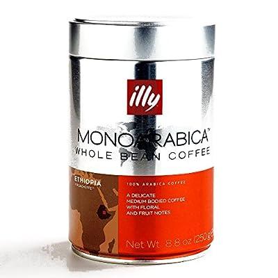 Illy MonoArabica Ethiopia Whole Bean Coffee 8.8 oz each (2 Items Per Order)