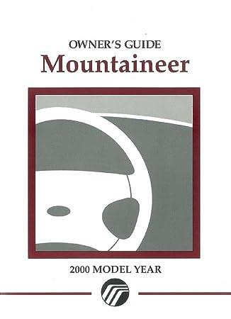 amazon com 2000 mercury mountaineer owners manual user guide rh amazon com 2000 Mercury SUV 2000 mercury mountaineer service manual pdf