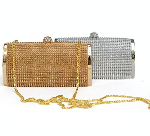 Paquetes De Noche Paquetes De Noche Super Brillante Diamantes De Imitación Damas De Honor Damas De Honor Moda Bolsos Silver