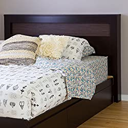 "South Shore Vito Full/Queen Headboard with Zebrano Insert, 54/60"", Chocolate"