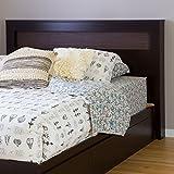 South Shore Furniture Vito Full/Queen Headboard with Zebrano Insert, 54/60-Inch, Chocolate