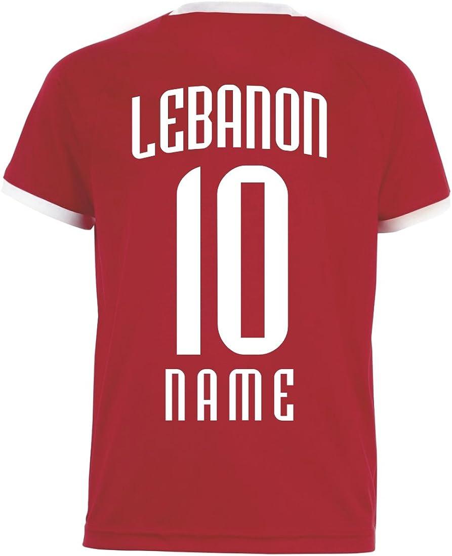 Aprom-Sports Libanon Kinder Trikot Nr Druck Wunschname RRR WM 2018 Hose Stutzen inkl