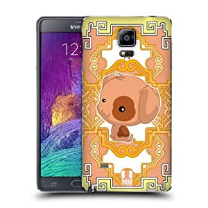 Head Case Designs Dog Zodiac Animals Replacement Battery Back Cover for Samsung Galaxy Note 4
