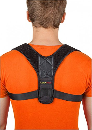 Leramed Posture Corrector for Women and Men, Back Brace, Posture Brace, Effective Comfortable Adjustable Posture Correct Brace, Posture Support, Kyphosis Brace, Muscle Pain Reliever by Leramed