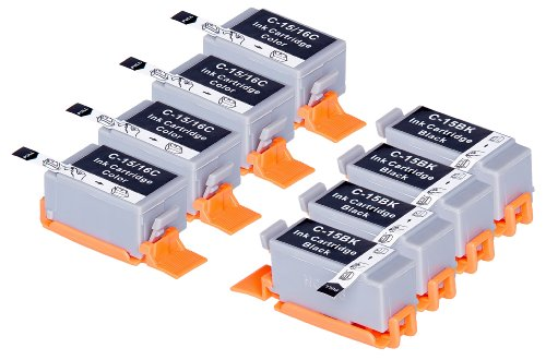 8 Pack Compatible Canon BCI-15 4 Black, 4 Tri Color for use with Canon Canon i70, i80. Ink Cartridges for inkjet printers. BCI-15-BK , BCI-15-C © Blake Printing (Bci 15 Tri Color)