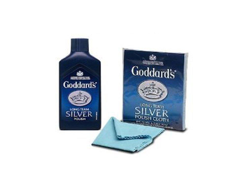 Goddards Polishing Kit Long Term Silver Polish Cloth and Silver Polish Cleaner JEWELLERY