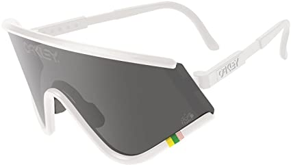 28a200b8e5 Image Unavailable. Image not available for. Color  Oakley Men s Tour de  France Heritage Collection Eyeshade Sunglasses ...
