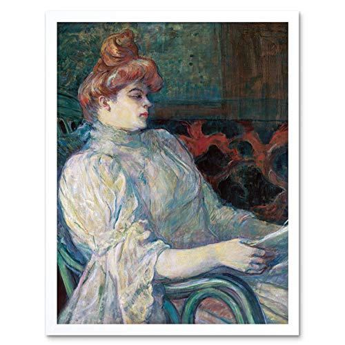 (Toulouse-Lautrec Madame Marthe X Painting Art Print Framed Poster Wall Decor 12x16 inch)