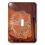 3dRose Danita Delimont - Artwork - Arizona, Palatki Heritage Site, Roasting Pit site, Pictograph rock art - Light Switch Covers - single toggle switch (lsp_258710_1)