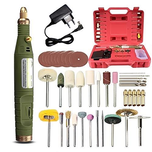 OlogyMart DC 18V Handy Electric Grinder Drill Engraver Rotary Tools Kit Adjustable Speed