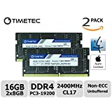 Timetec Hynix IC 16GB KIT (2x8GB) DDR4 2400MHz PC4-19200 Unbuffered Non-ECC 1.2V CL17 2Rx8 Dual Rank 260 Pin SODIMM Laptop Notebook Computer Memory RAM Module Upgrade(16GB Kit (2x8GB))
