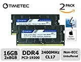 Timetec Hynix IC Apple 16GB Kit (2x8GB) DDR4 2400MHz PC4-19200 SODIMM Memory Upgrade For iMac Retina 4k/5K 21.5-inch/27-inch Mid 2017 (16GB Kit (2x8GB))