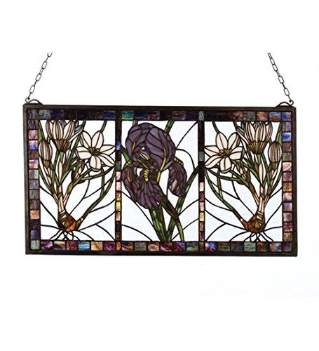 (Spring Triptych Tiffany Style Stained Glass Window)
