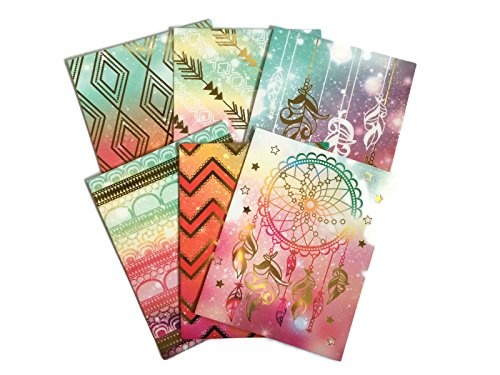 Colorful Geometric Tribal Daydream School Supply Bundle: 6 Items: Six Assorted Kittrich Subject Folders]()