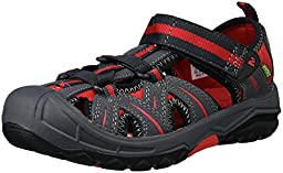 Merrell Hydro Water Sandal (Toddler/Little Kid/Big Kid), Grey/Red, 10 M US Toddler