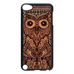 iPod 5 Case,Vintage Aztec Tribal Owl Hard Snap-On Cover Case for iPod Touch 5, 5G (5th Generation)