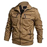 MAGE MALE Men's Cotton Casual Military Army Tactical Jackets Windbreaker Lightweight Outwear Coat Multi-Pocket Jacket