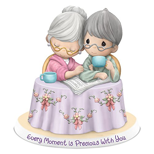 Bisque Collection - Precious Moments Every Moment Is Precious With You Bisque Porcelain Figurine by The Hamilton Collection