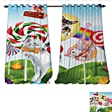 Best Avon Cat Trees - Blackout Window Curtain Colorful Fantasy Land Rainbow Candy Review