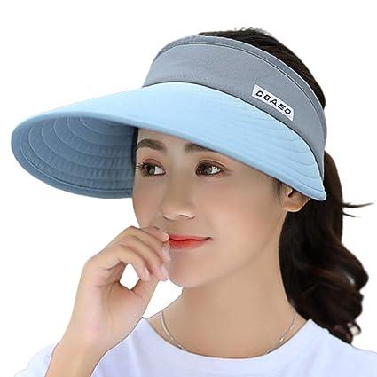 9e402bcc921 Amazon.com: Thobu Sun Visor Hat, Womens Summer Ultra-Large Wide Brim ...
