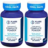 Klaire Labs Ther-Biotic Complete Probiotic Powder - 100 Billion High CFU - 12 Species - Probiotic Supplement - Supports Immune Health and Inflammation - Non-GMO and Dairy-Free (64g / 2 Pack)