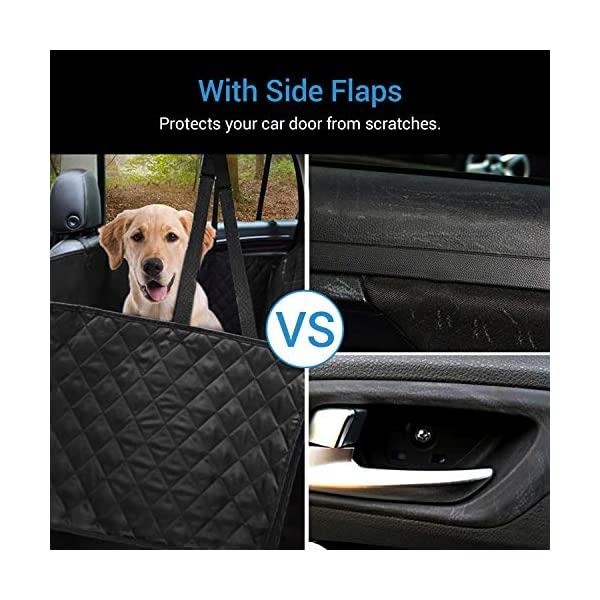 NICREW Dog Car Seat Cover Hammock with Seat Belt 5