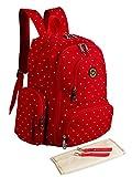 Abonnyc Diaper Bag Backpack Nappy Bags Mummy Travel Backpack Handbag Large Capacity Fit Stroller (Red)