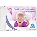 Crib Mattress Pad Waterproof Fitted - Soft Quilted Protection - When You Want a Ultra Soft, High Absorbency and Stain Protection For Your Baby, By Lilly's Love - Buy with Confidence