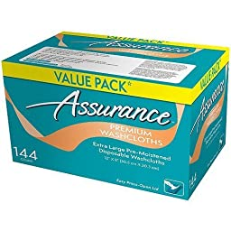Assurance Premium Washcloths Value Pack 144 Count