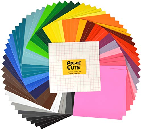 Craft Vinyl - Permanent Adhesive Backed Vinyl Sheets By PrimeCuts USA - 65 VINYL SHEETS 12