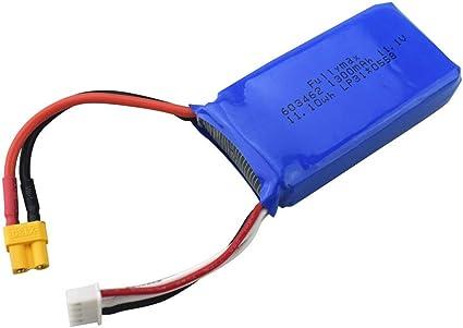 Huhu833 Rc Akku 11 1v 1300mah Lipo Batterie Für Wltoys Xk X450 Fpv Rc Drone Wiederaufladbar Batterie Ersatzteile 11 1v 1300mah Amazon De Sport Freizeit