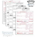 Complete Laser W-2 Tax Forms And W-3 Transmittal - Kit For 25 Employees ~4-Part~ All W-2 Forms in Value Pack | W-2 Forms 2017