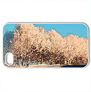 Snowy bend - Case Cover for iPhone 4 and 4s (Winter Series, Watercolor style, White)