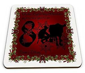 De todos los días de la Navidad mi True Love Gave To Me (octavo) brillante taza posavasos