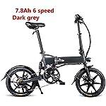 517 ifln85L. SS150 Drohneks Bici elettrica Pieghevole Ebike con Motore da 250 W, Luce Anteriore a LED, Pneumatico in Gomma Gonfiabile da 16…