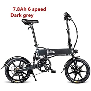 517 ifln85L. SS300 Drohneks Bici elettrica Pieghevole Ebike con Motore da 250 W, Luce Anteriore a LED, Pneumatico in Gomma Gonfiabile da 16…