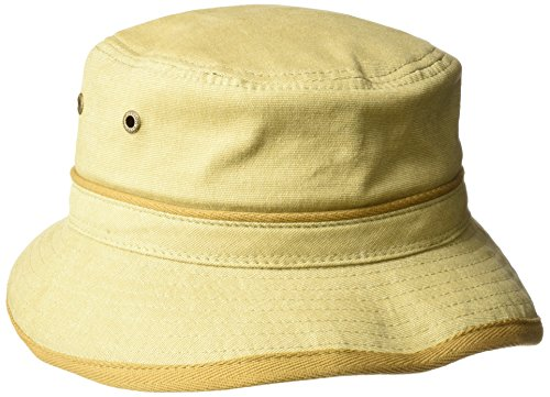 (Stetson Men's Oxford Bucket Hat, Khaki,)